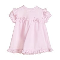 Blues Baby Brielle Jacquard Dress & Pants Set - Pink