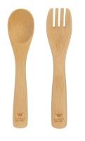 BAM BAM Baby Bamboo Fork & Spoon Set