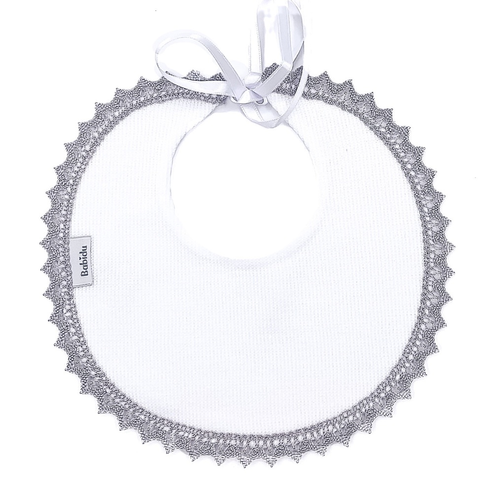 Babidu Cotton Bib - White