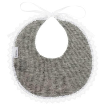 Babidu Cotton Bib - Grey