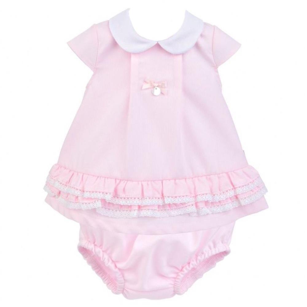 Gracie Pique Dress & Pants - Pink