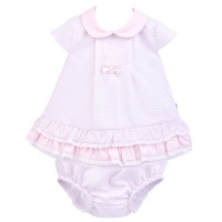 Gracie Pique Dress & Pants - White/Pink