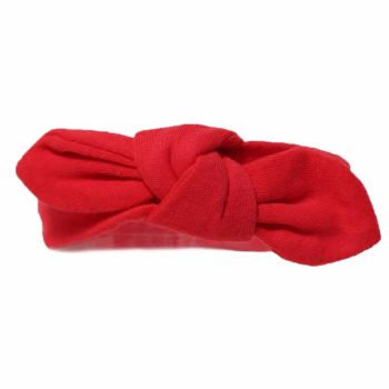 Cotton Knot Headband - Red