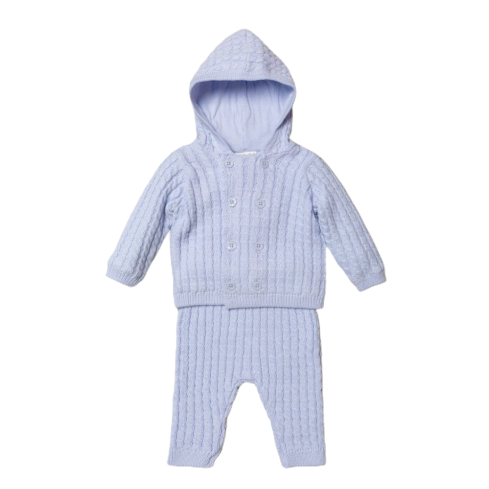 Taylor Cable Knit Tracksuit - Blue