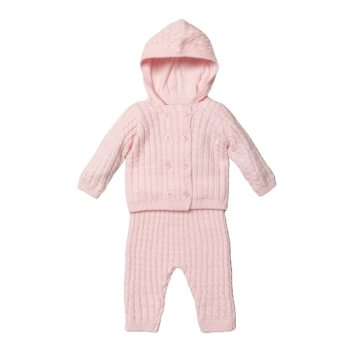 Taylor Cable Knit Tracksuit - Pink