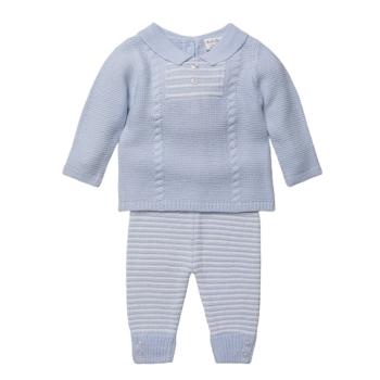 Oscar Knitted Jumper & Pants Set - Blue