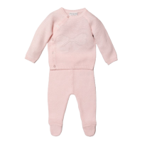 Sophia Knitted Jumper & Pants Set - Pink