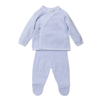 Noah Knitted Jumper & Pants Set - Blue