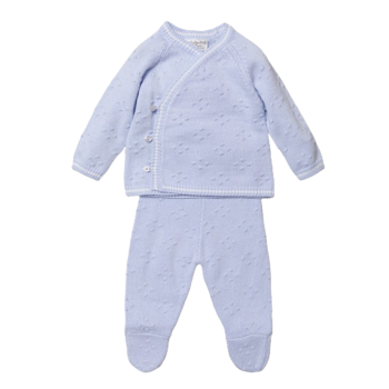 Noah Knitted Jumper & Pants Set - Blue