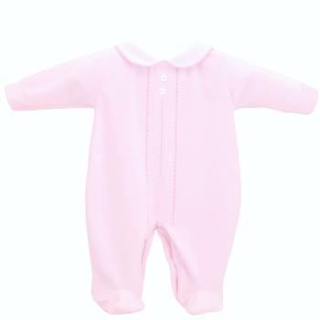 Classic Velour Sleepsuit - Pink