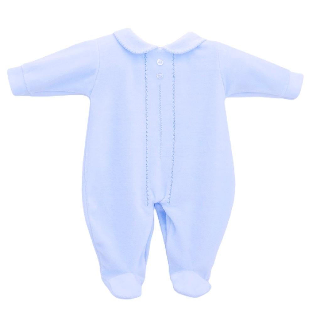 Classic Velour Sleepsuit - Blue