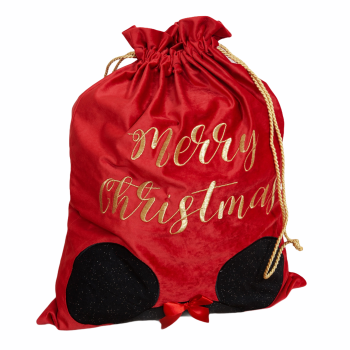 Luxury Red Velvet Disney Christmas Gift Sack - Minnie