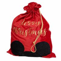 Luxury Red Velvet Disney Christmas Gift Sack - Mickey