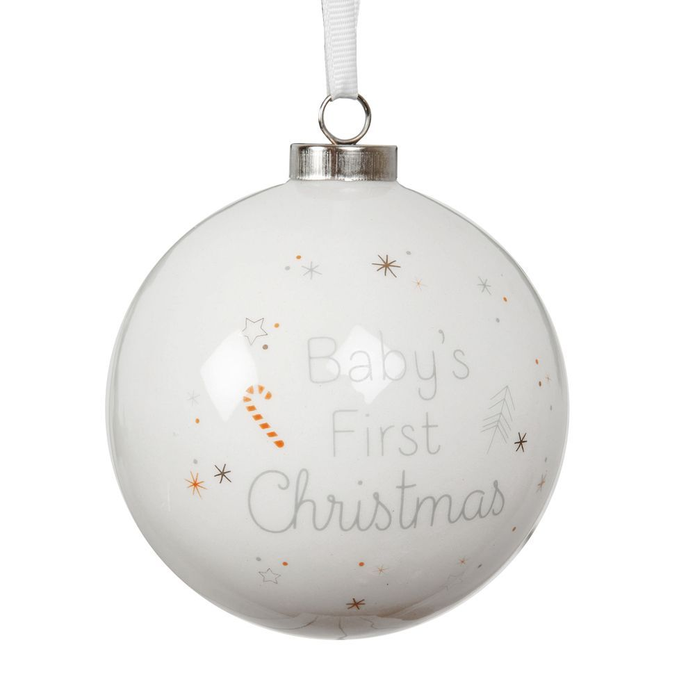 Baby's First Christmas Ceramic Bauble