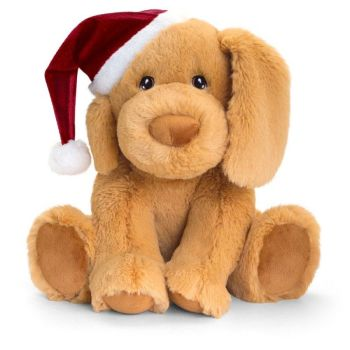 Keel Eco Festive Puppy With Hat Plush Toy 25cm