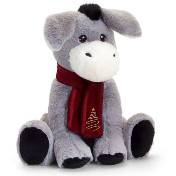 Keel Eco Festive Little Donkey With Scarf Plush Toy 25cm