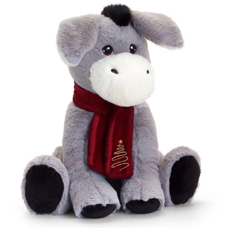 Keel Eco Festive Little Donkey With Scarf Plush Toy 25cm