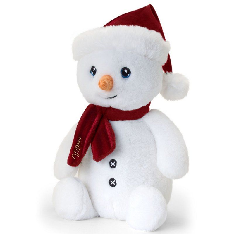 Keel Eco Festive Snowman With Scarf Plush Toy 20cm