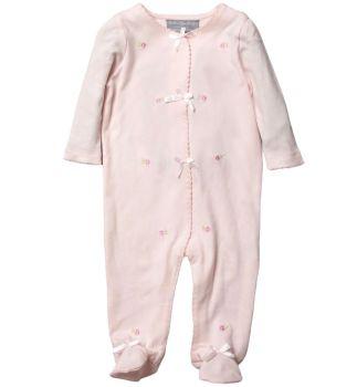 Rosebud Cotton Babygrow - Pink
