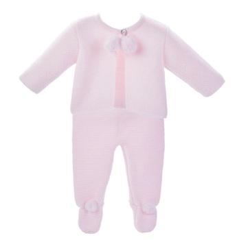 Harley Knitted Pom Set - Pink