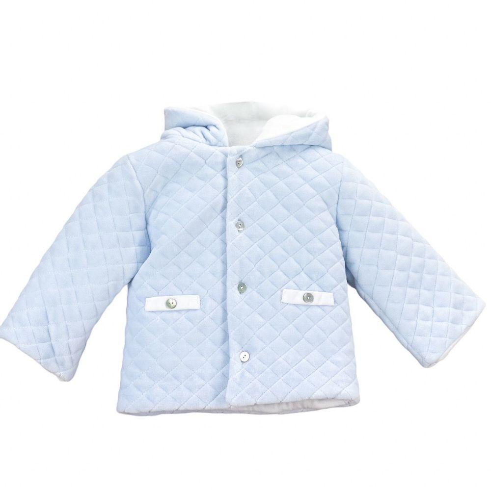 Babidu Quilted Velour Jacket - Blue