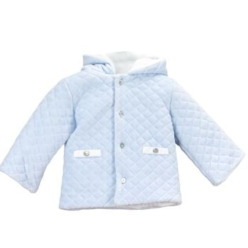 Babidu Quilted Velour Jacket - Blue