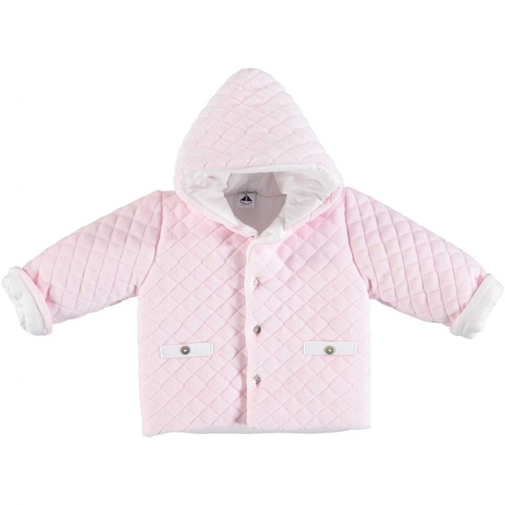 Babidu Quilted Velour Jacket - Pink