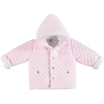 Babidu Quilted Velour Jacket - Pink