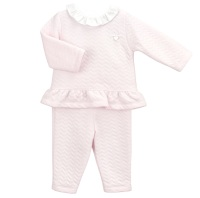 Babidu Zig Zag Quilted Tracksuit - Pink
