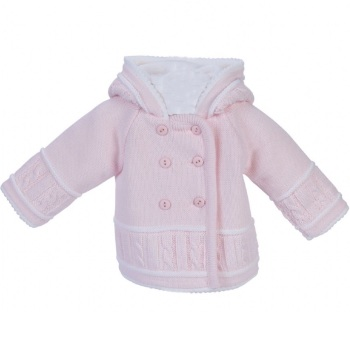 Cable Knit Jacket - Pink
