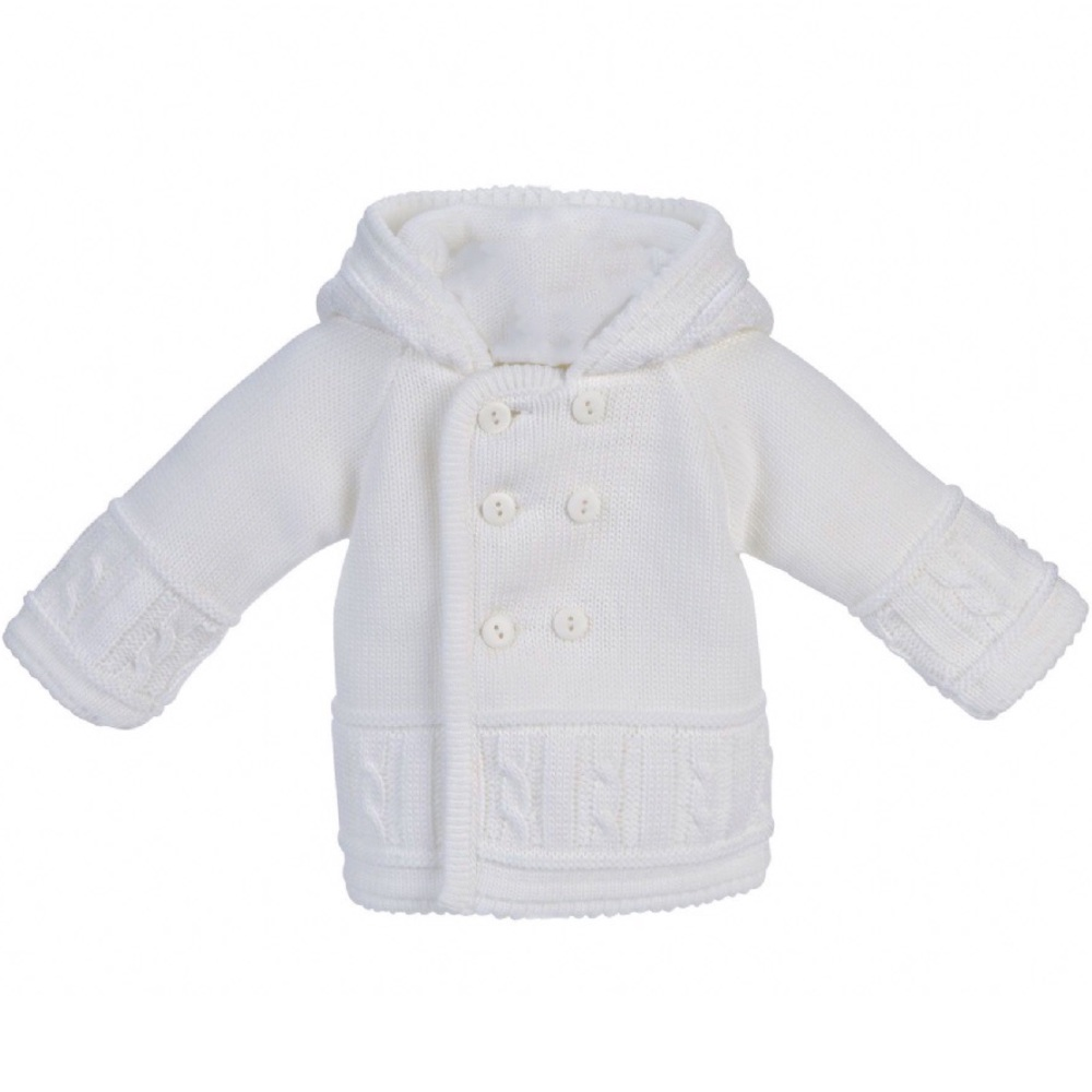 Cable Knit Jacket- White