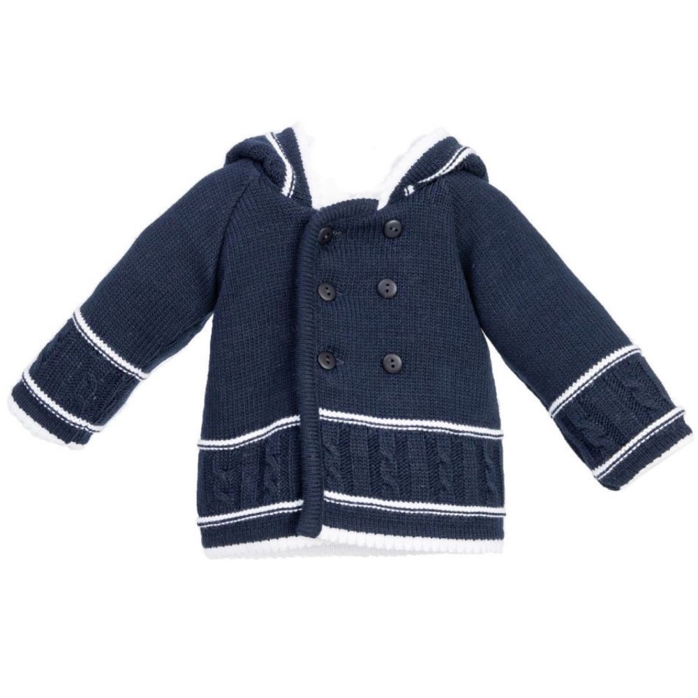Cable Knit Jacket - Navy