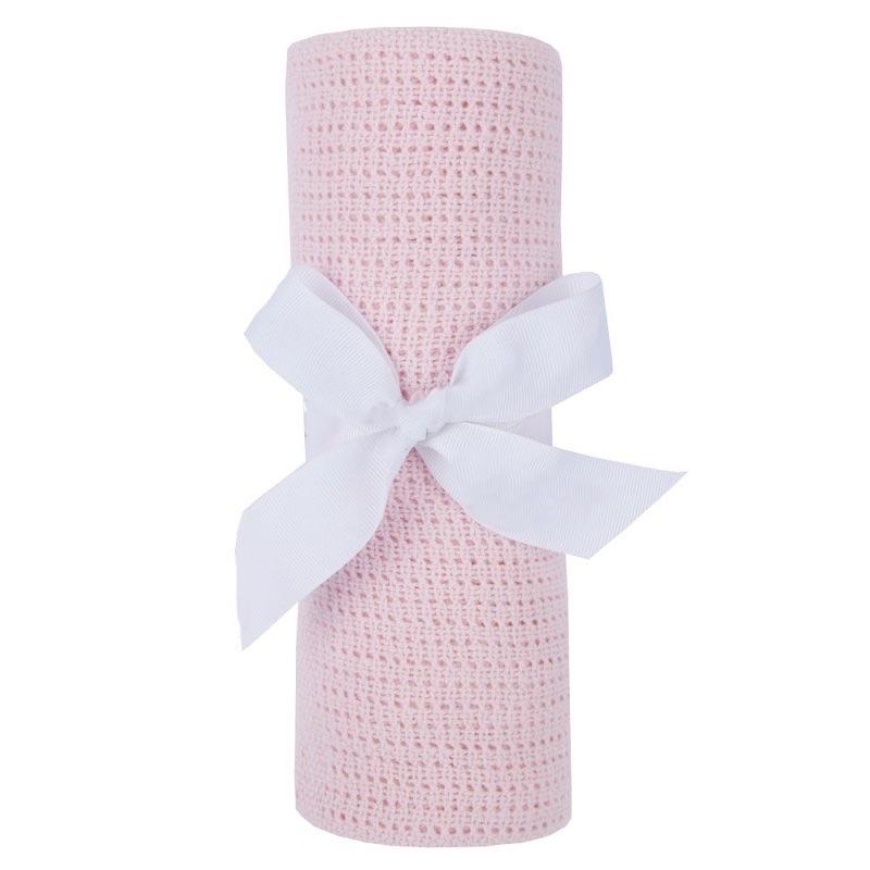Cotton Cellular Blanket - Pink
