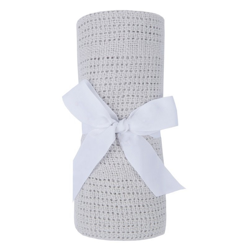 Cotton Cellular Blanket - Grey