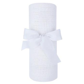 Cotton Cellular Blanket - White