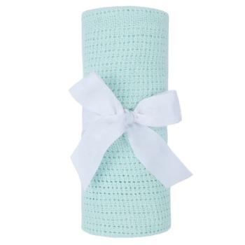 Cotton Cellular Blanket - Mint