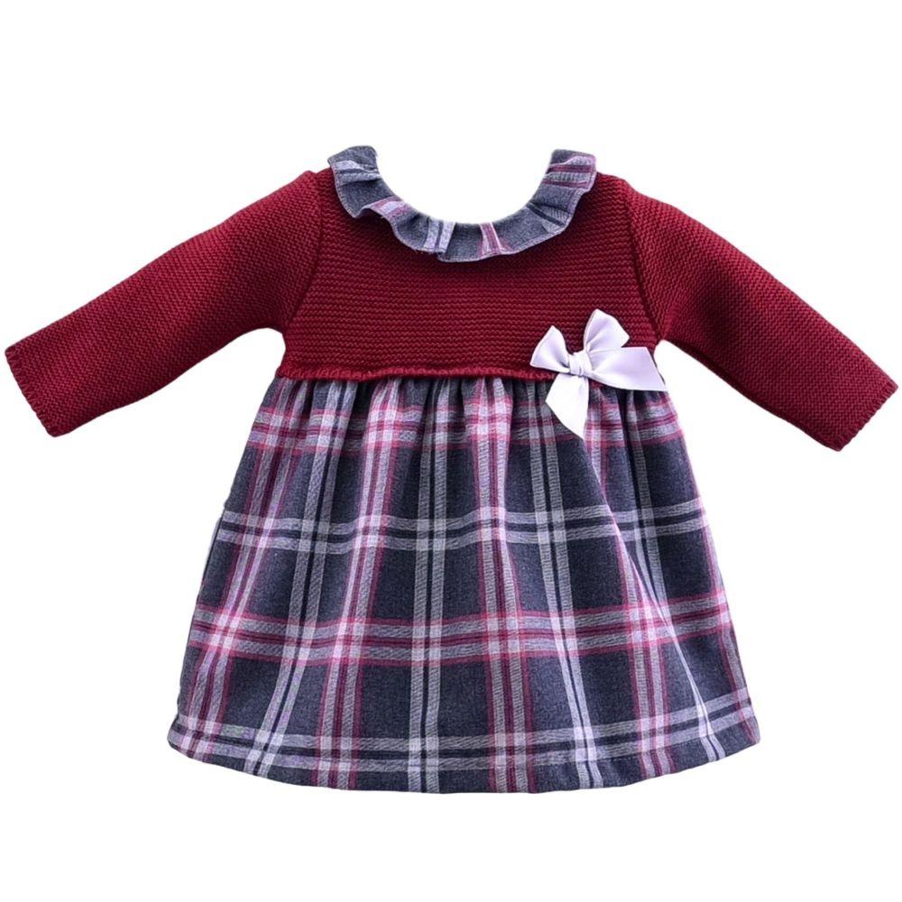 Freya Tartan Knitted Top Dress