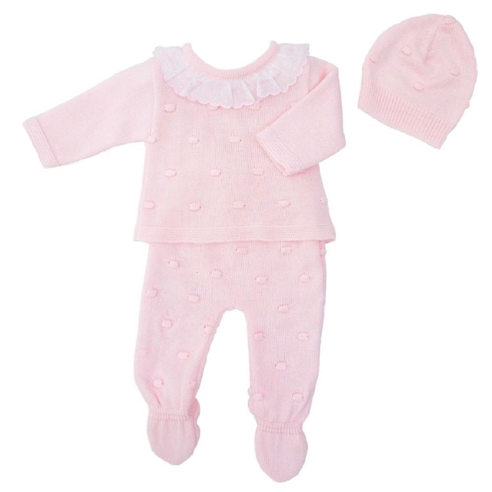 Harper Bobble Knit Set - Pink