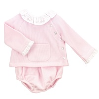 Babidu Jersey Cotton Jumper & Pants - Pink