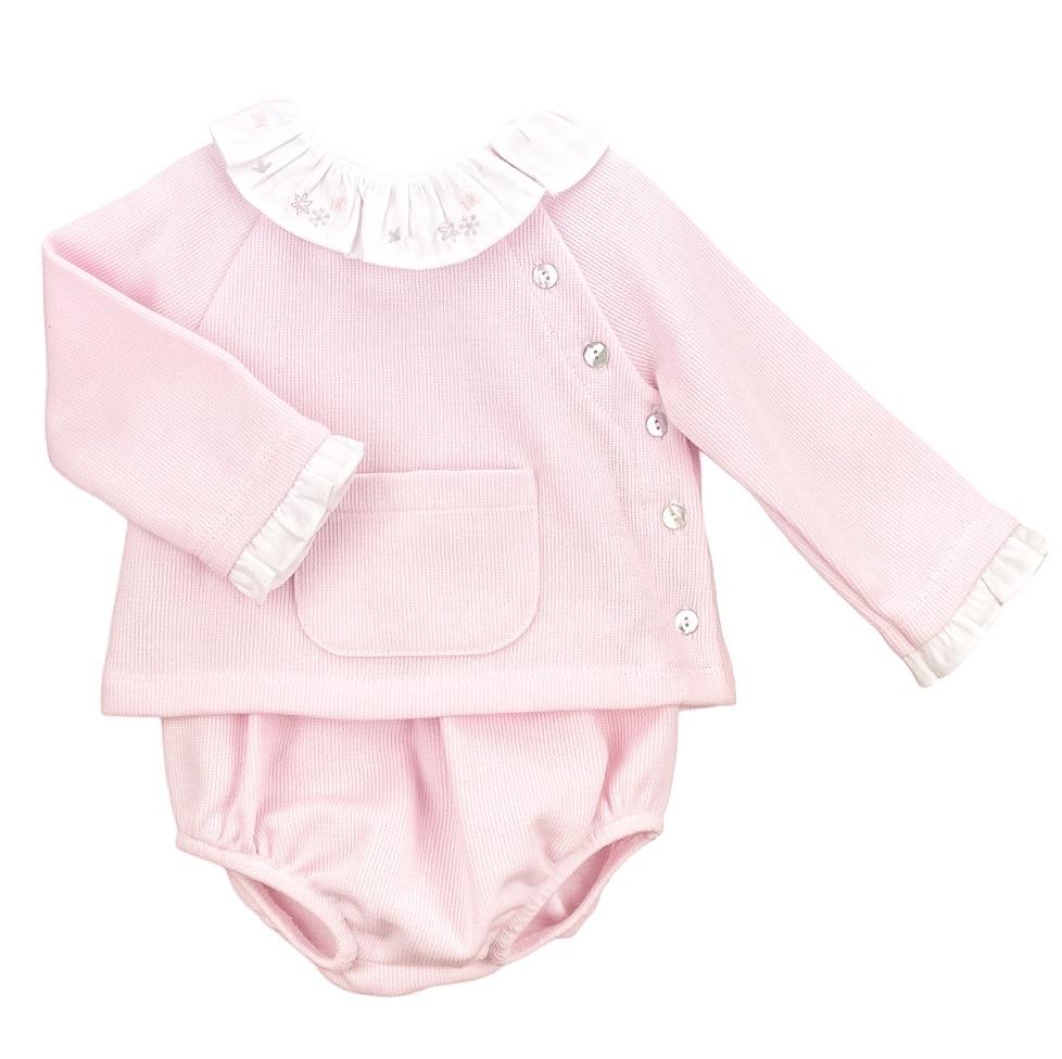 Babidu Jersey Cotton Jumper & Pants - Pink