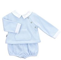 Babidu Jersey Cotton Jumper & Shorts - Blue