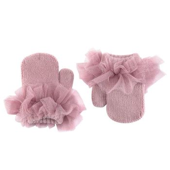 Condor Tulle Frill Mittens - Rose