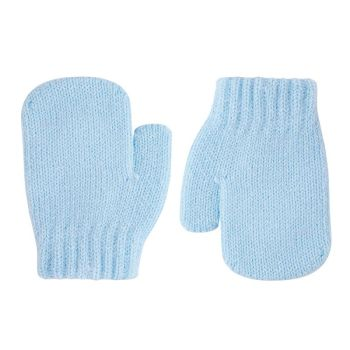 Condor Classic Soft Knit Mittens - Blue