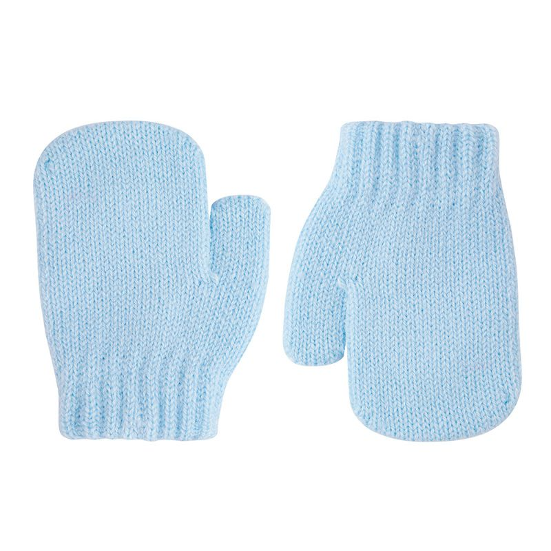 Condor Classic Soft Knit Mittens - Blue