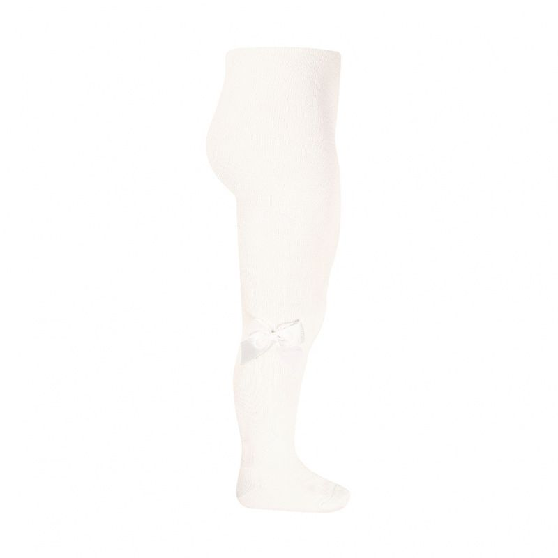 Condor Cotton Tights With Bow - Ivory