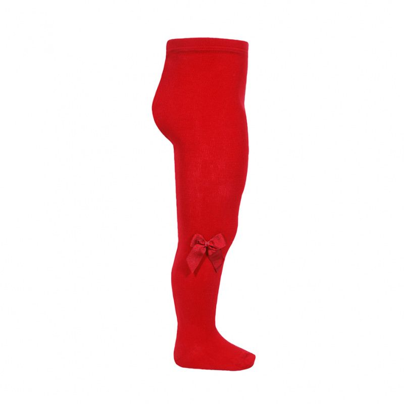 Condor Cotton Tights With Bow - Red