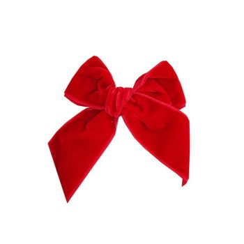 Condor Velvet Bow Clip - Red