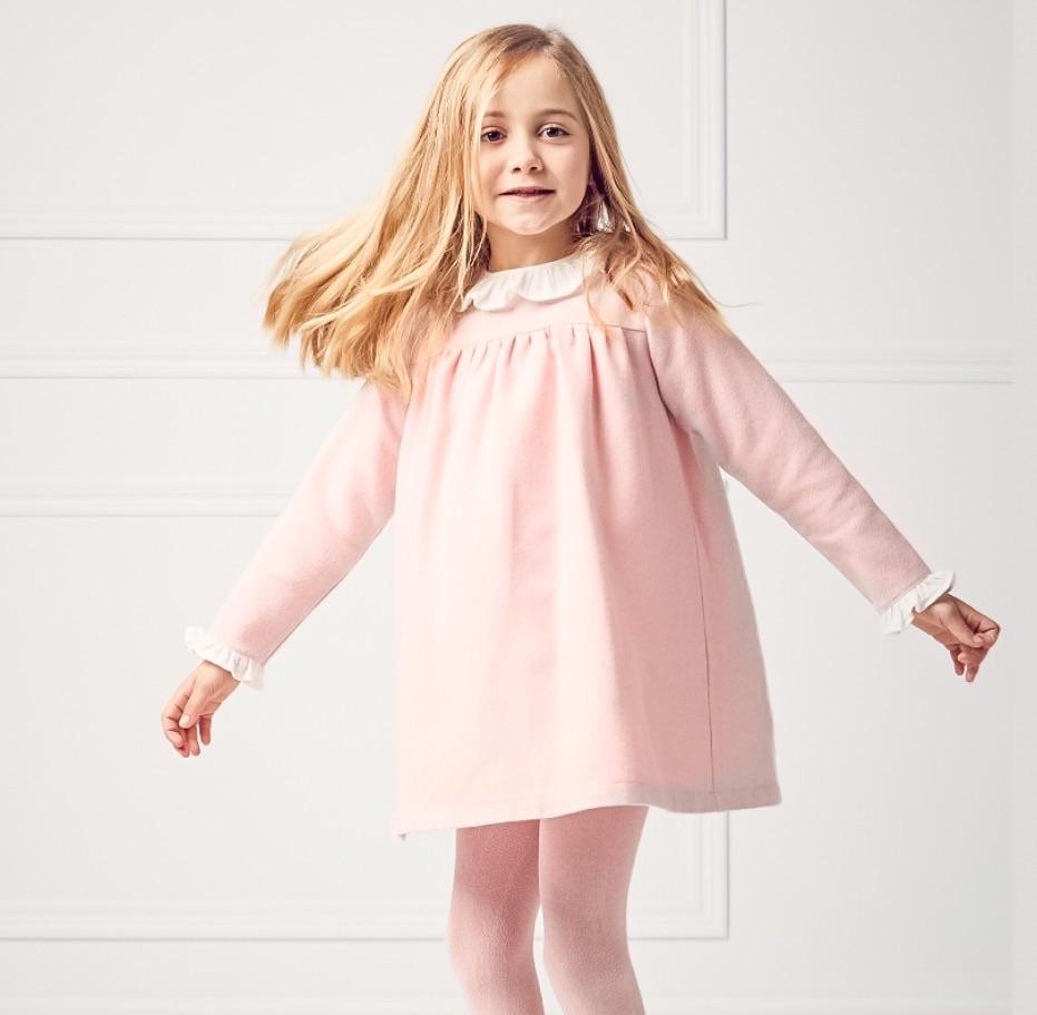 Babidu Wool Blend Dress - Pink