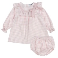 Babidu Gingham Dress & Pants - Pink