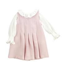 Babidu Pinafore Dress & Blouse - Pink